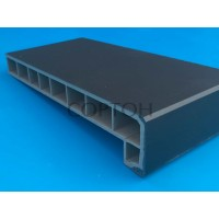 Подоконник Moeller LD-40 150 мм черный клин тач (Clean Touch)